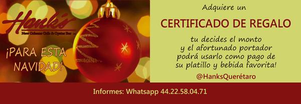 Certificado de Regalo Hanks