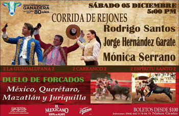 Feria Queretaro - Toros Rejones y Forcados